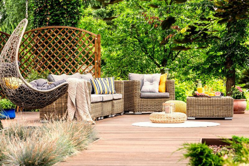 Variété et durabilité: une référence en matière de mobilier de jardin en rotin